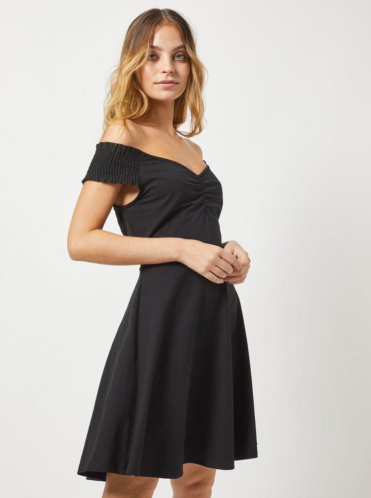 Černé šaty s odhalenými rameny Dorothy Perkins Petite