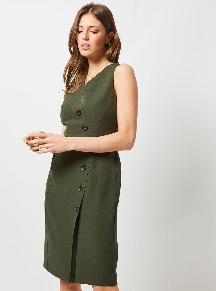 Tmavozelené púzdrové šaty Dorothy Perkins