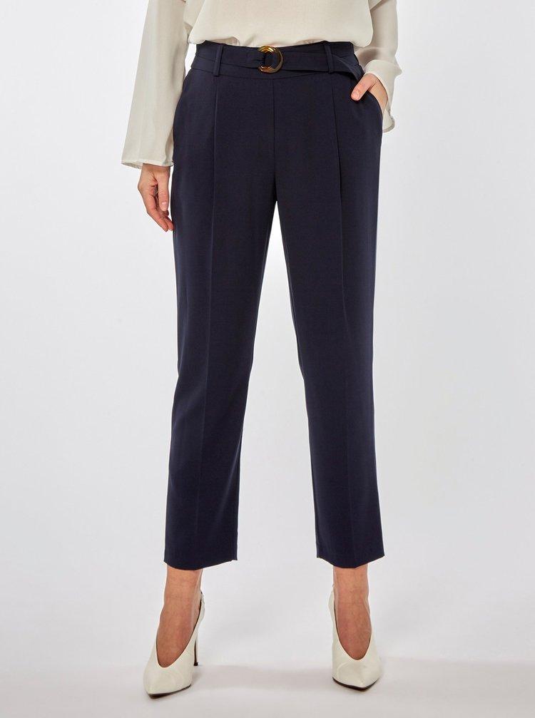 Tmavě modré zkrácené kalhoty Dorothy Perkins