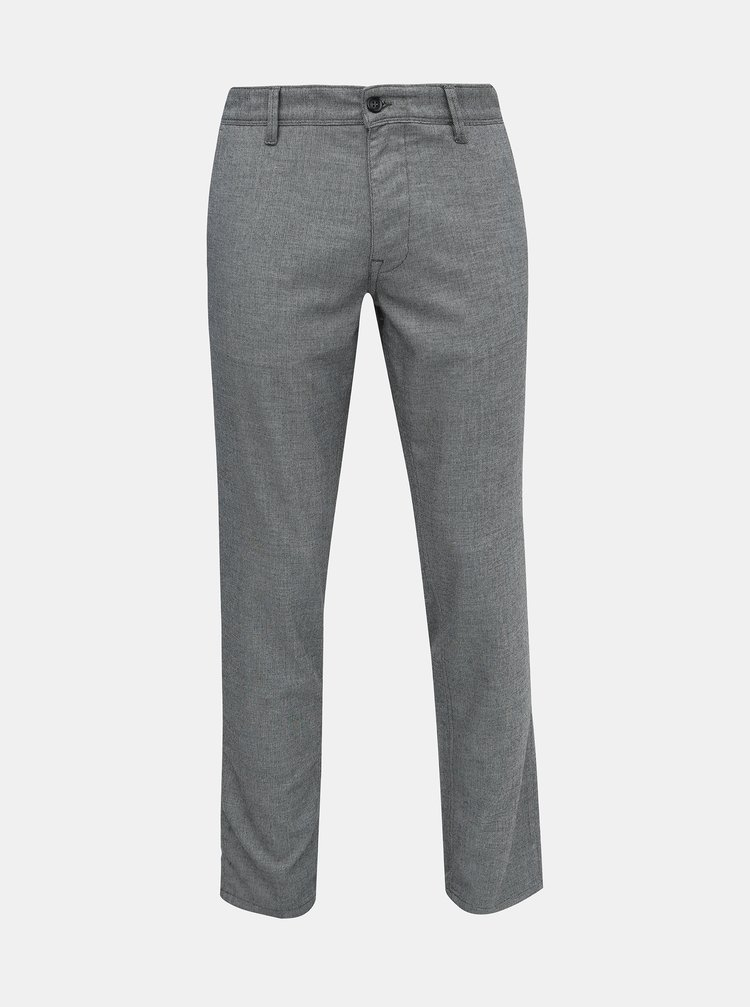 Šedé slim fit kalhoty Selected Homme Storm