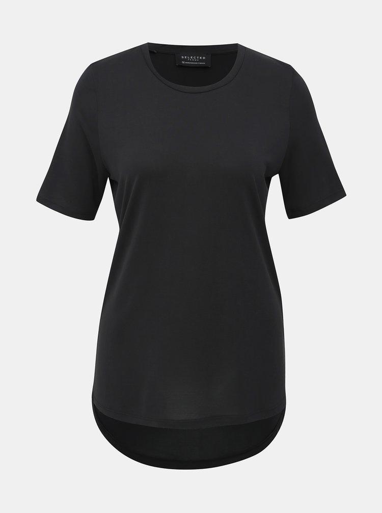 Černé basic tričko Selected Femme Ella
