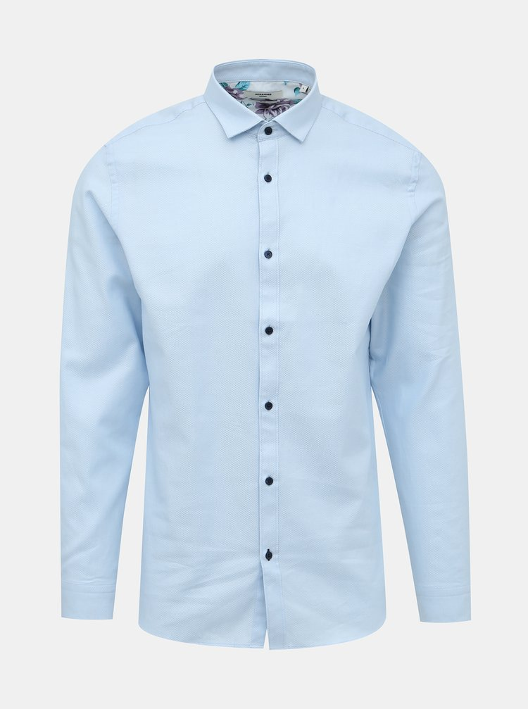 Světle modrá slim fit košile Jack & Jones Bla