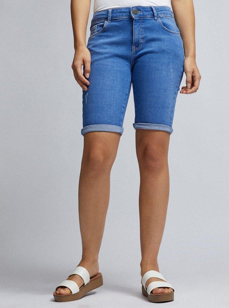 Pantaloni scurti albastri din denim Dorothy Perkins Petite