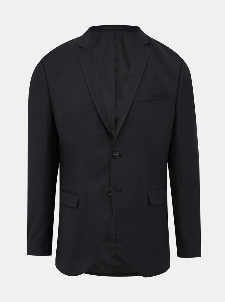 Černé oblekové sako s příměsí vlny Jack & Jones Solaris