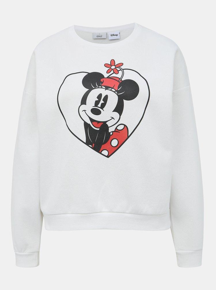 Bílá mikina s potiskem ONLY Disney