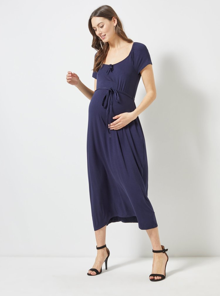 Tmavě modré těhotenské šaty Dorothy Perkins Maternity