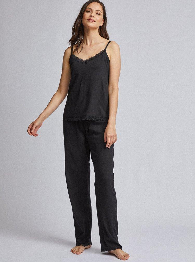 Černé dvoudílné pyžamo Dorothy Perkins