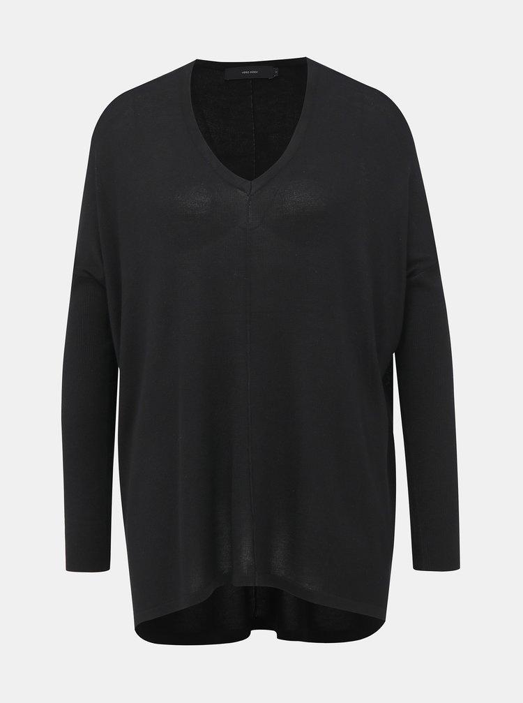 Černý oversize svetr VERO MODA Vica