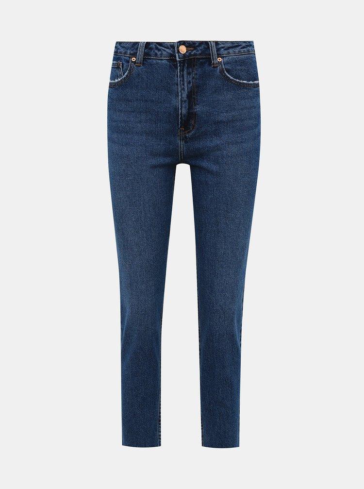 Modré zkrácené straight fit džíny ONLY Emily