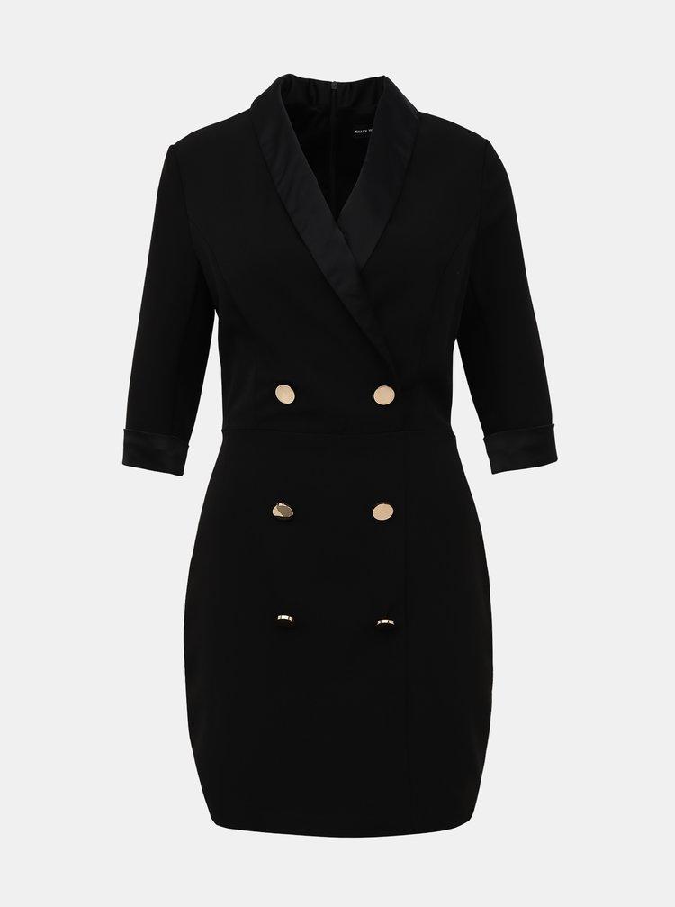 Černé pouzdrové šaty TALLY WEiJL Gelska