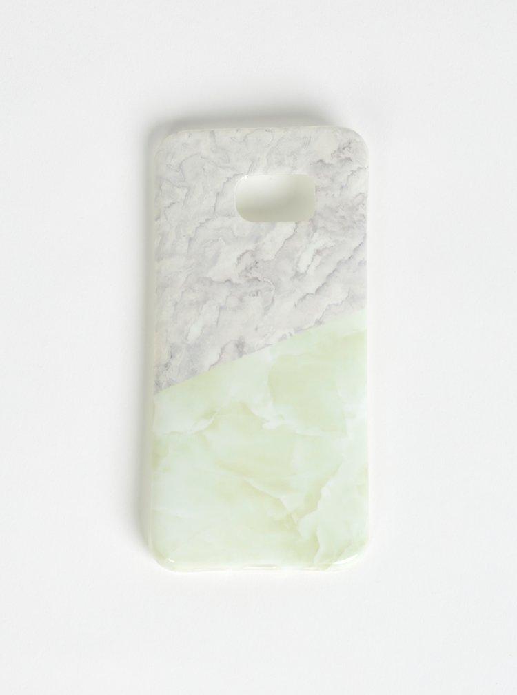 Světle zelený vzorovaný obal na Samsung S7 Edge Haily´s Marbel