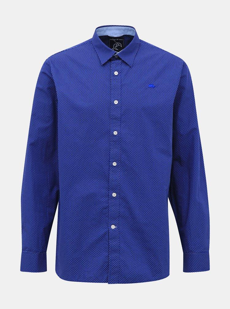 Modrá puntíkovaná košile Raging Bull