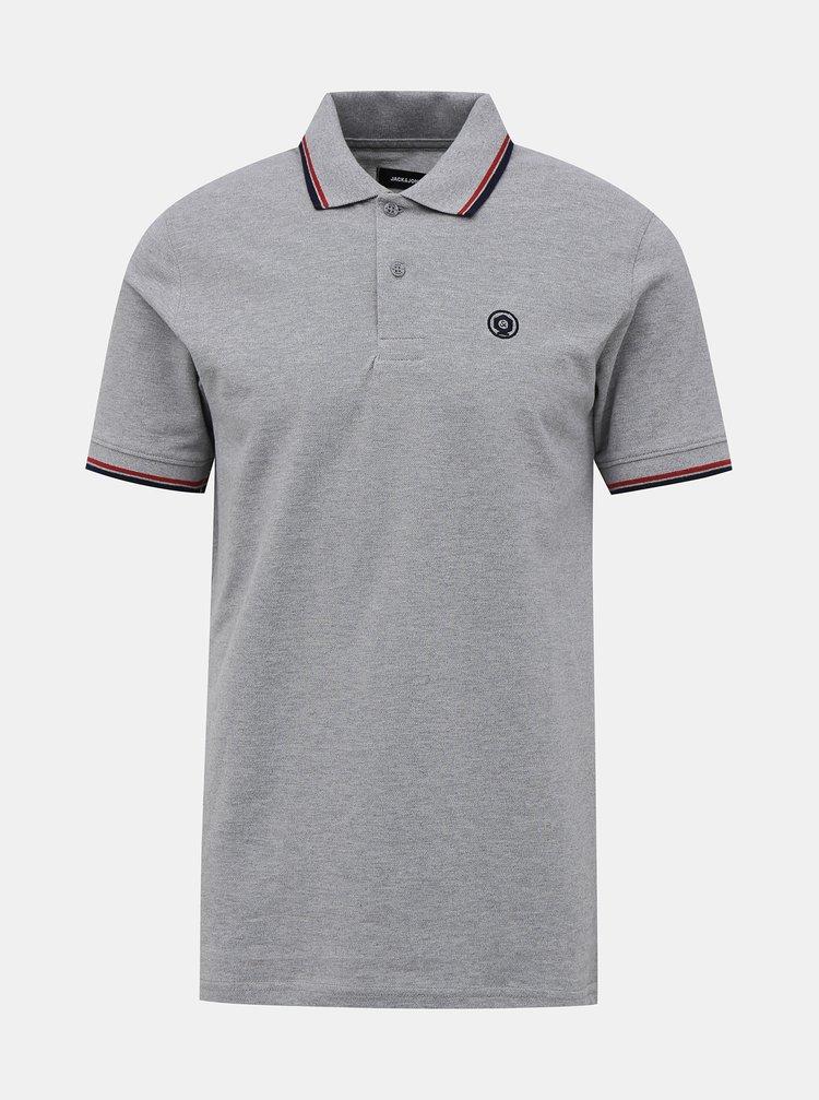 Tricouri polo pentru barbati Jack & Jones - gri