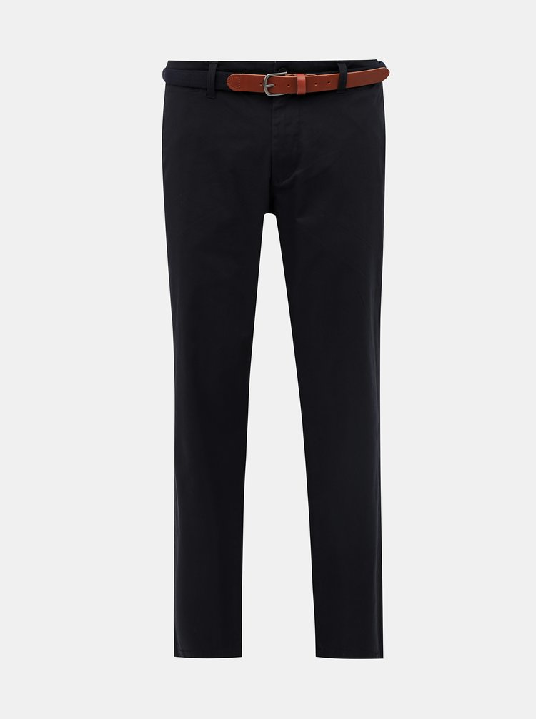 Černé slim fit chino kalhoty Selected Homme Yard