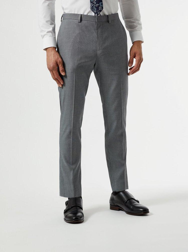 Šedé oblekové skinny fit kalhoty Burton Menswear London