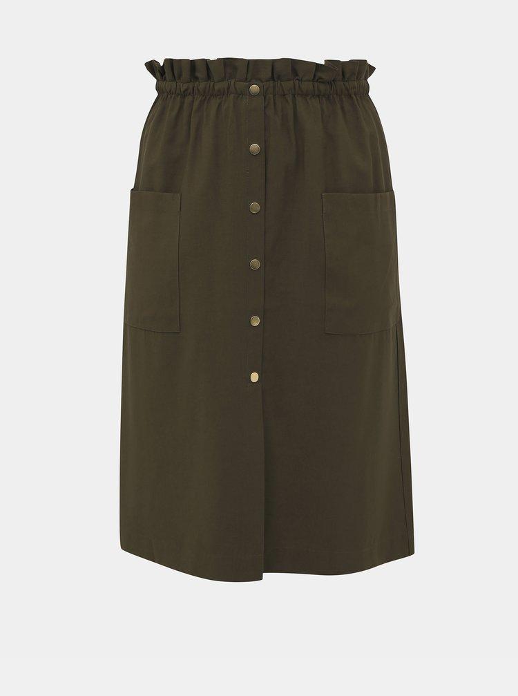 Khaki sukně ONLY CARMAKOMA Janine