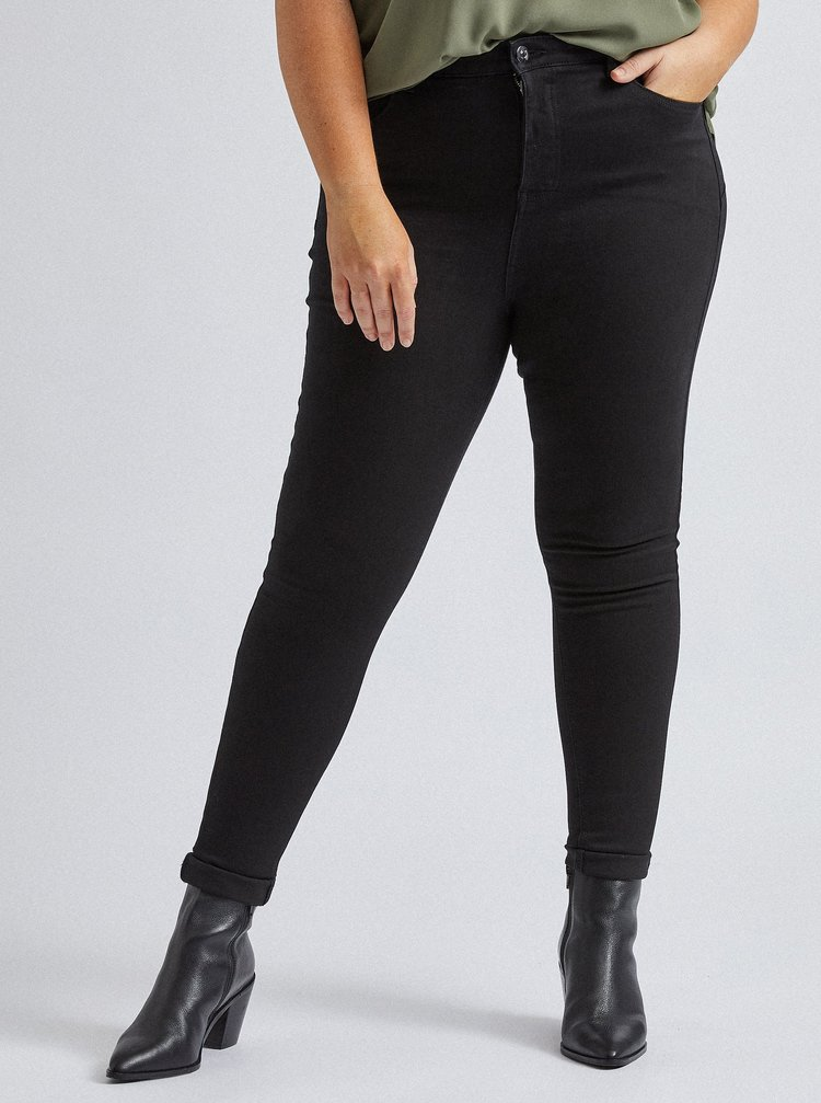 Čierne skinny fit rifle Dorothy Perkins Curve