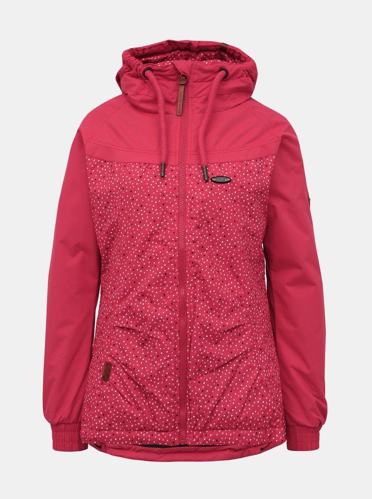 Tmavě růžová dámská vzorovaná zimní bunda Alife and Kickin Black Mamba B