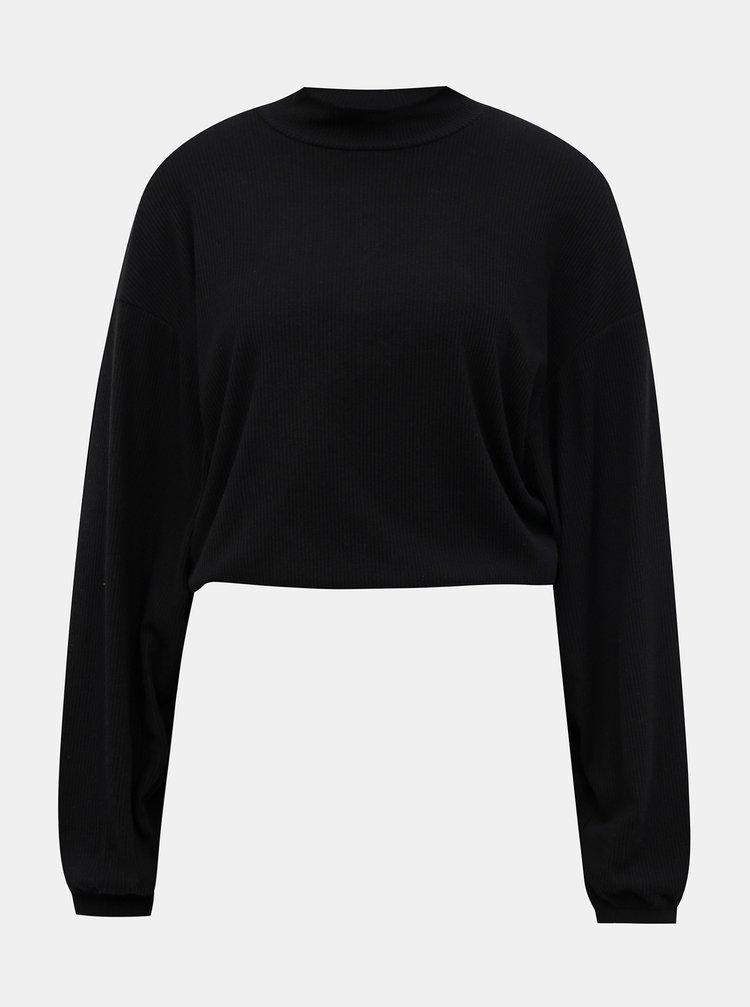 Černý krátký lehký svetr TALLY WEiJL Lola