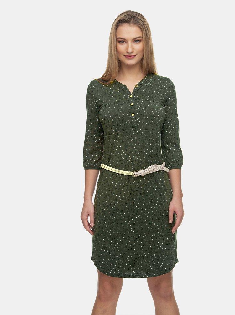 Tmavozelené vzorované šaty Ragwear Zofka