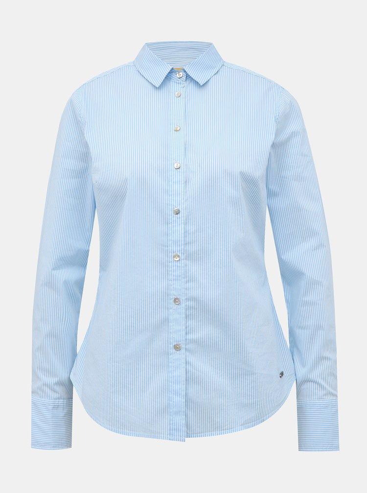 Světle modrá dámská pruhovaná slim fit košile ZOOT Baseline Chloe
