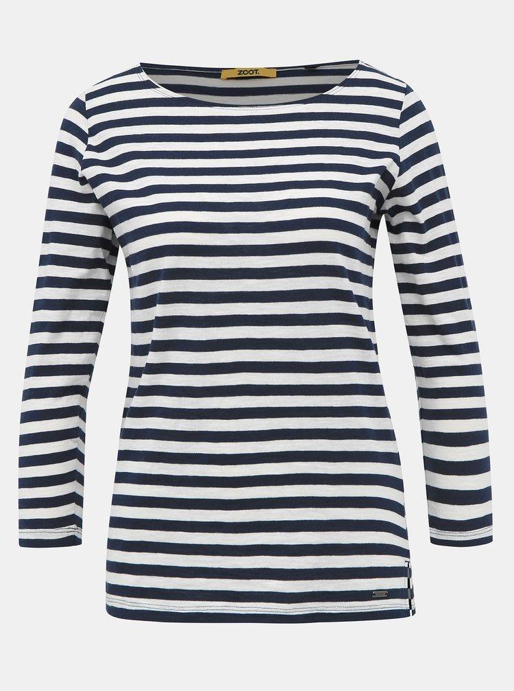 Bílo-modré dámské pruhované basic tričko ZOOT Baseline Atina