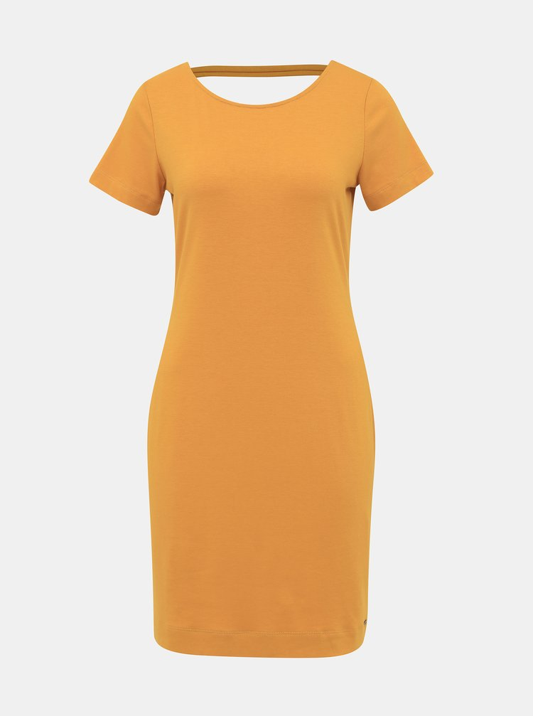 Hořčicové basic šaty ZOOT Brenda