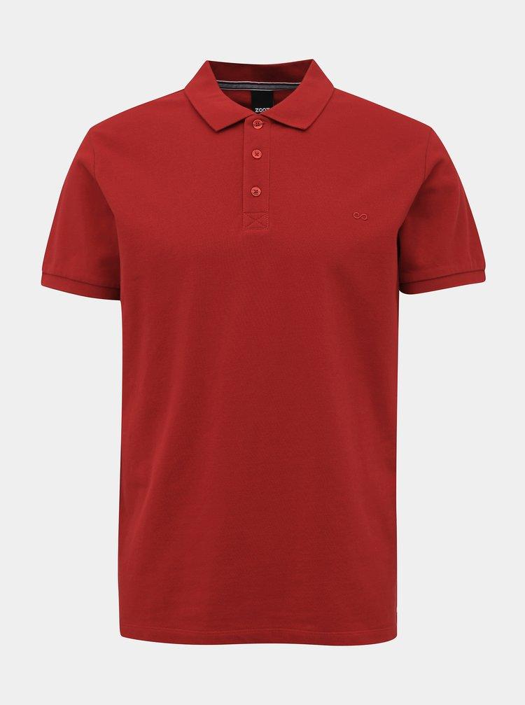 Červené pánské basic polo tričko ZOOT Lionel