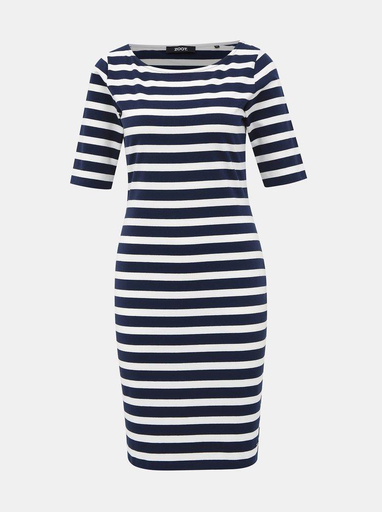 Bílo-modré pruhované basic šaty ZOOT Vanesa