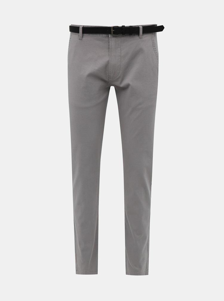 Pantaloni chino pentru barbati Lindbergh - gri