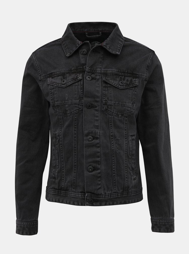 Tmavě šedá džínová bunda Shine Original