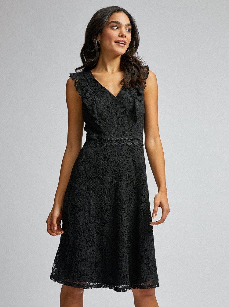 Čierne krajkové šaty Dorothy Perkins