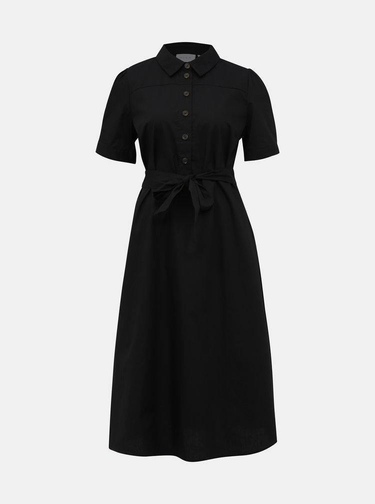 Černé košilové šaty VILA Nyala