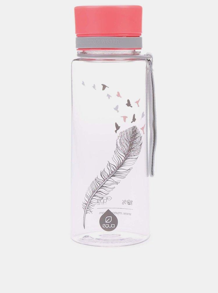 Plastová lahev s motivem pírka EQUA (600 ml)