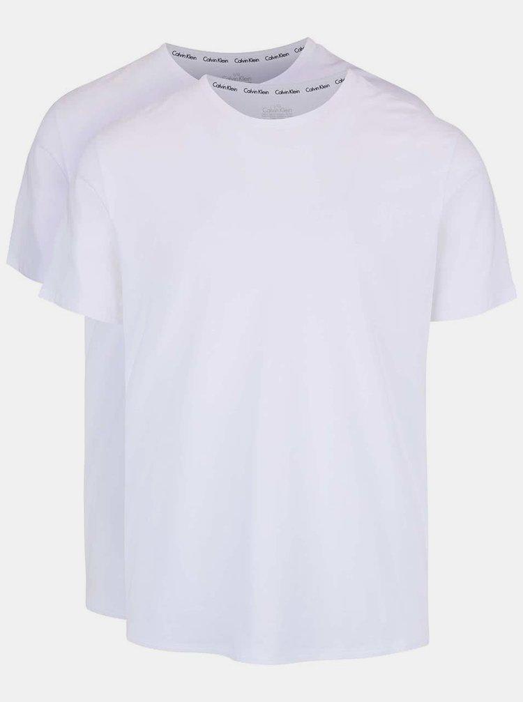 Set 2 tricouri albe regular fit Calvin Klein Underwear