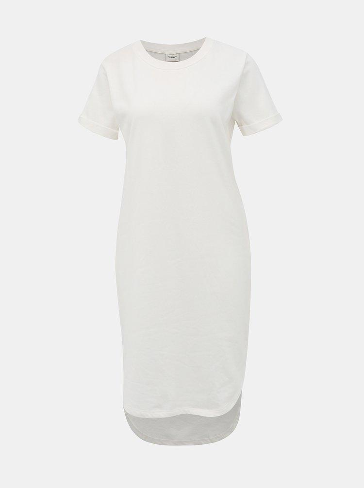 Bílé mikinové basic šaty Jacqueline de Yong Ivy