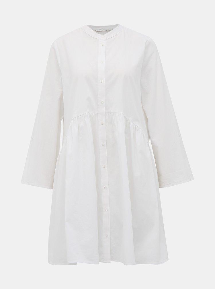 Bílé košilové šaty ONLY Ditte