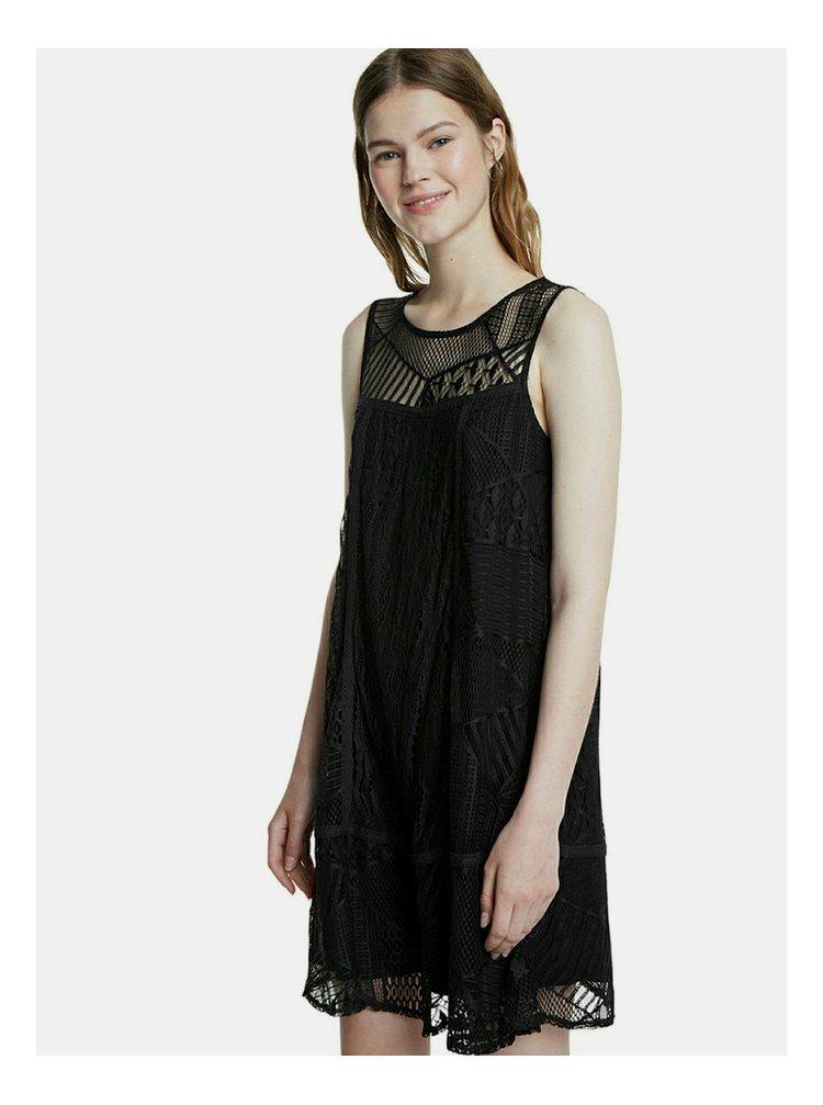 Černé krajkové šaty Desigual Keira