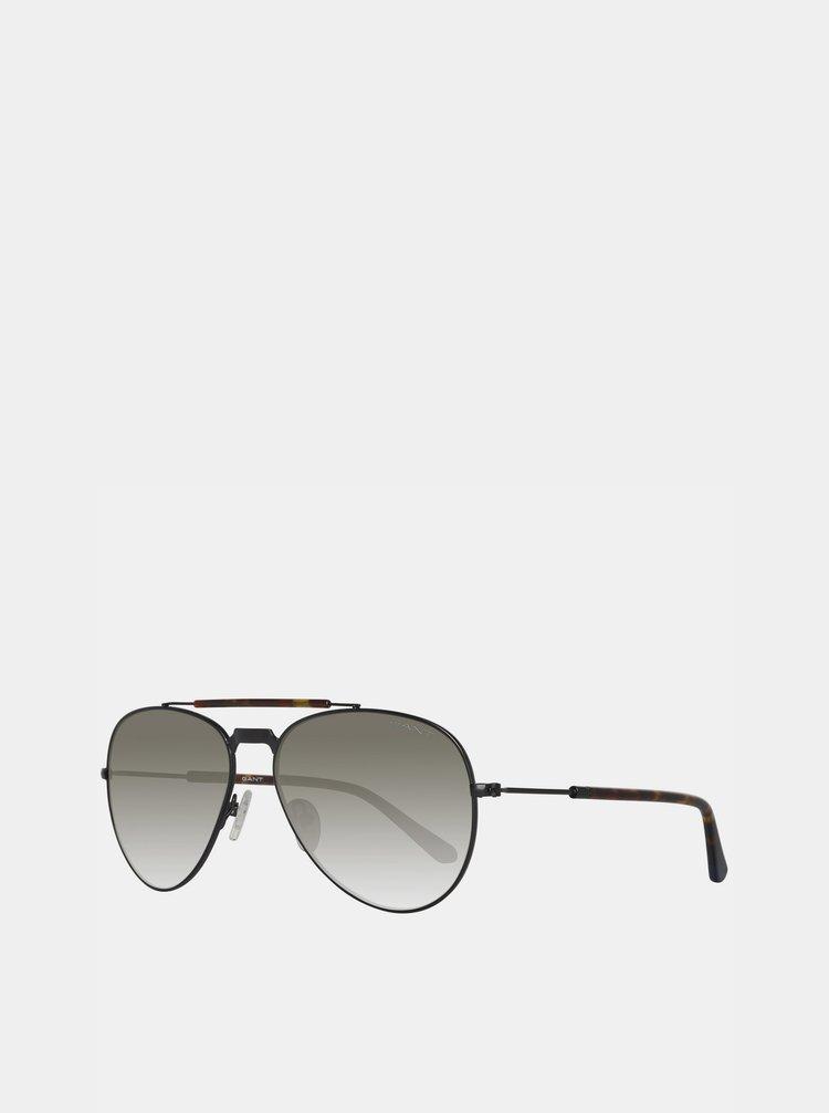 Hnedé vzorované slunečné okuliare GANT