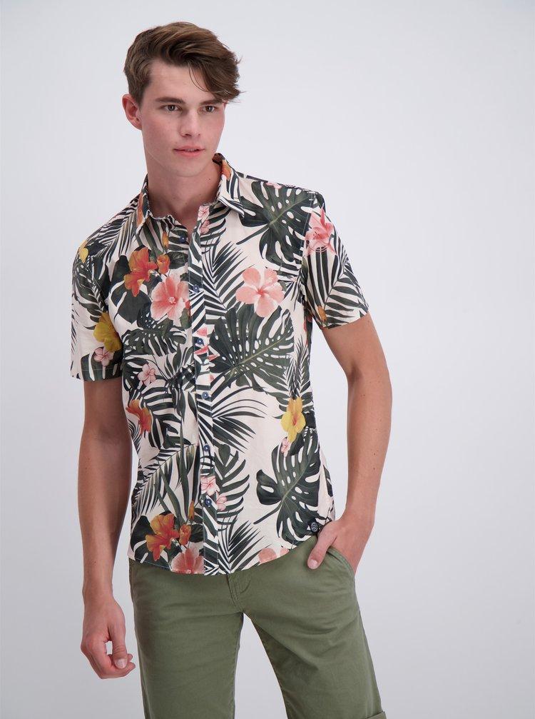 Bílo-zelená vzorovaná košile Shine Original