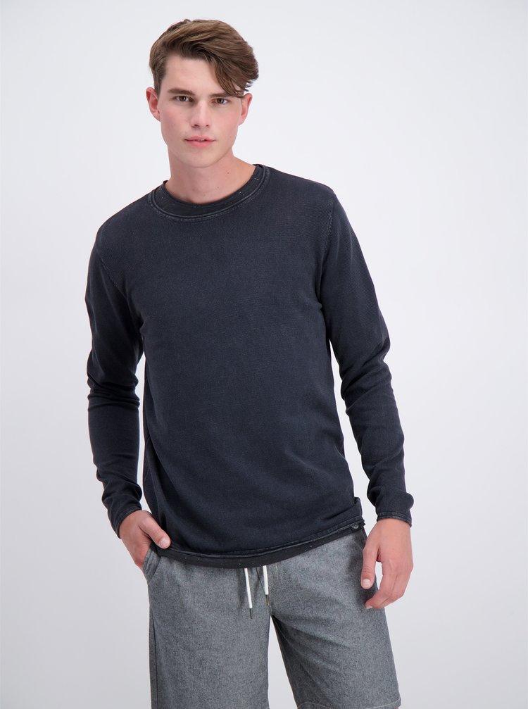 Tmavě šedý basic svetr Shine Original