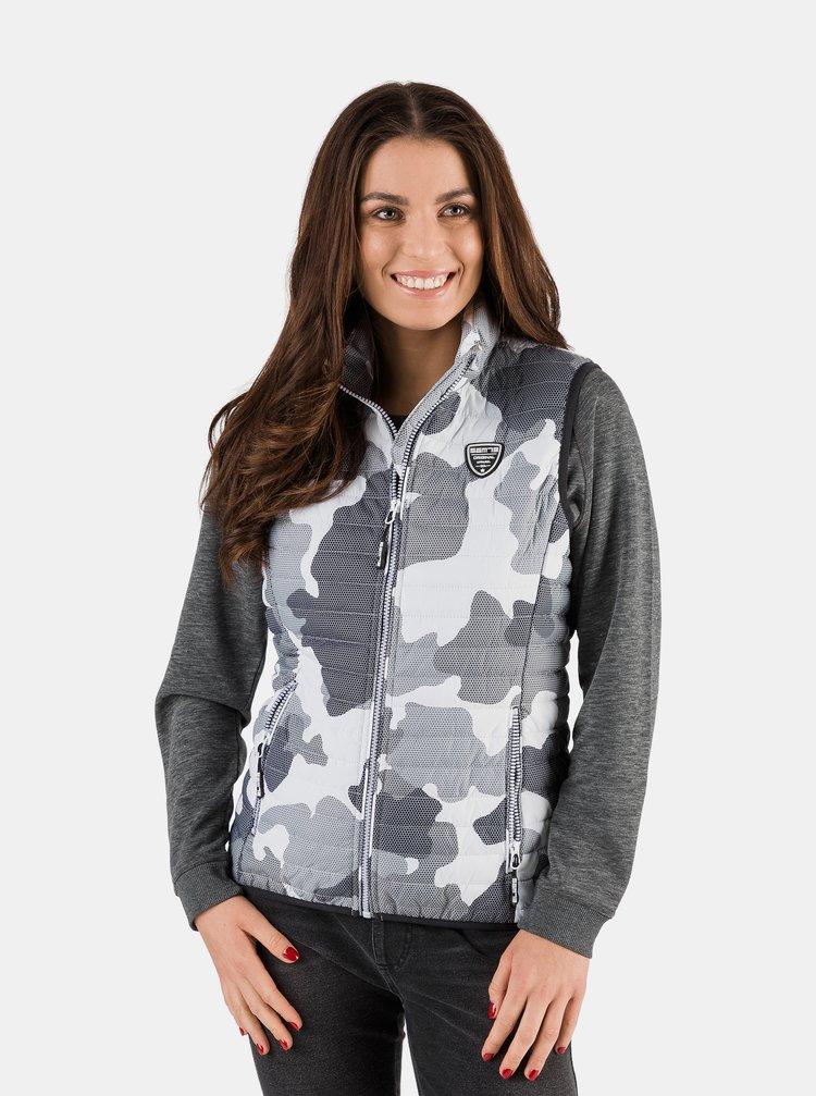 Světle šedá dámská prošívaná vesta SAM 73