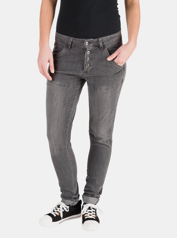 Tmavě šedé dámské slim fit džíny SAM 73
