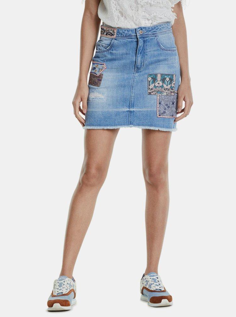 Modrá džínová sukně Desigual