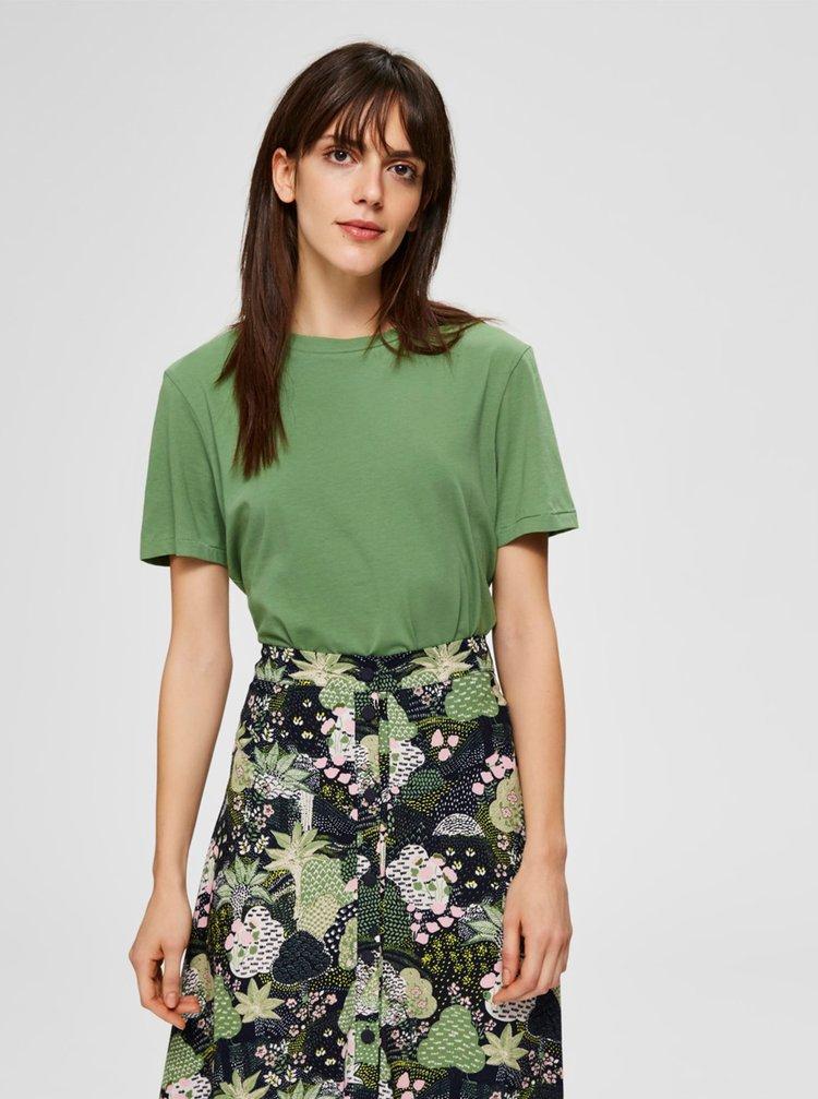 Zelené basic tričko Selected Femme My Perfect