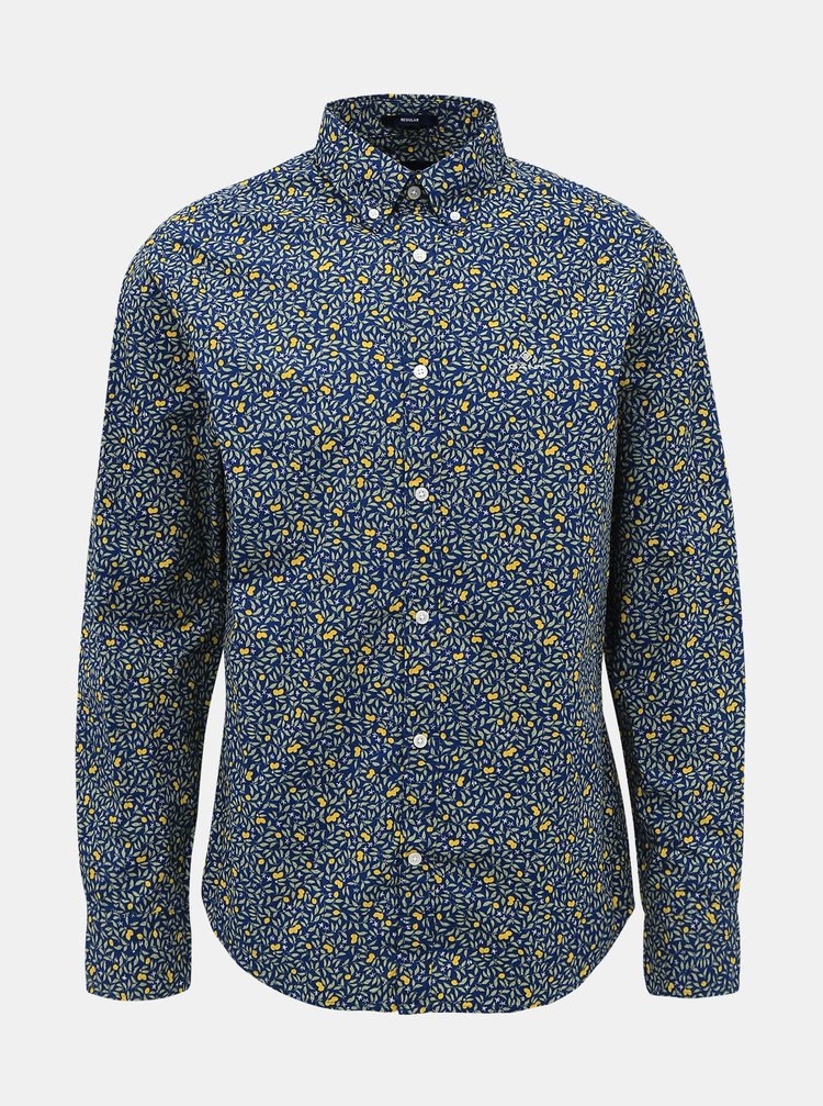 Camasi casual pentru barbati GANT - albastru inchis
