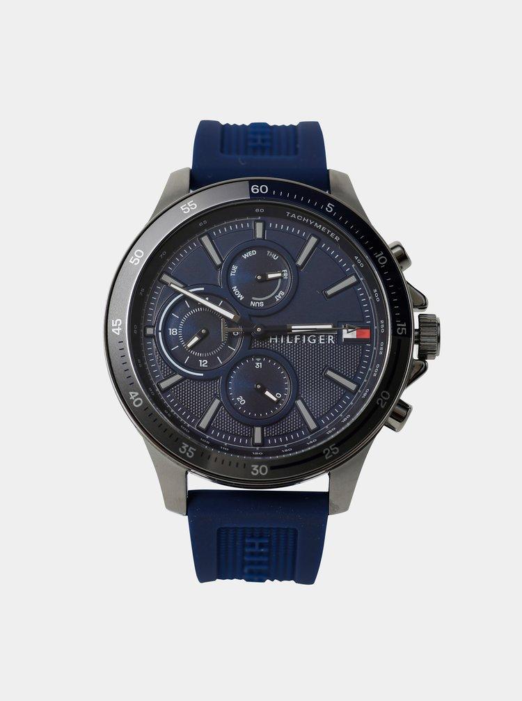 Pánské hodinky s modrým silikonovým páskem Tommy Hilfiger