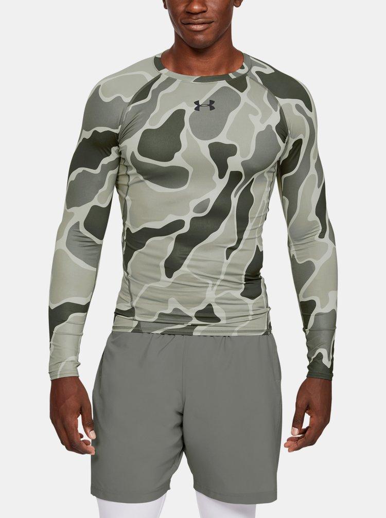 Zelené pánské kompresní tričko HeatGear Under Armour