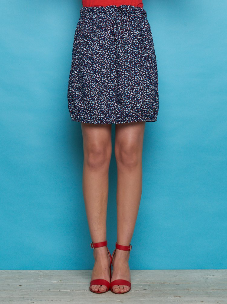 Tmavomodrá vzorovaná sukňa Tranquillo