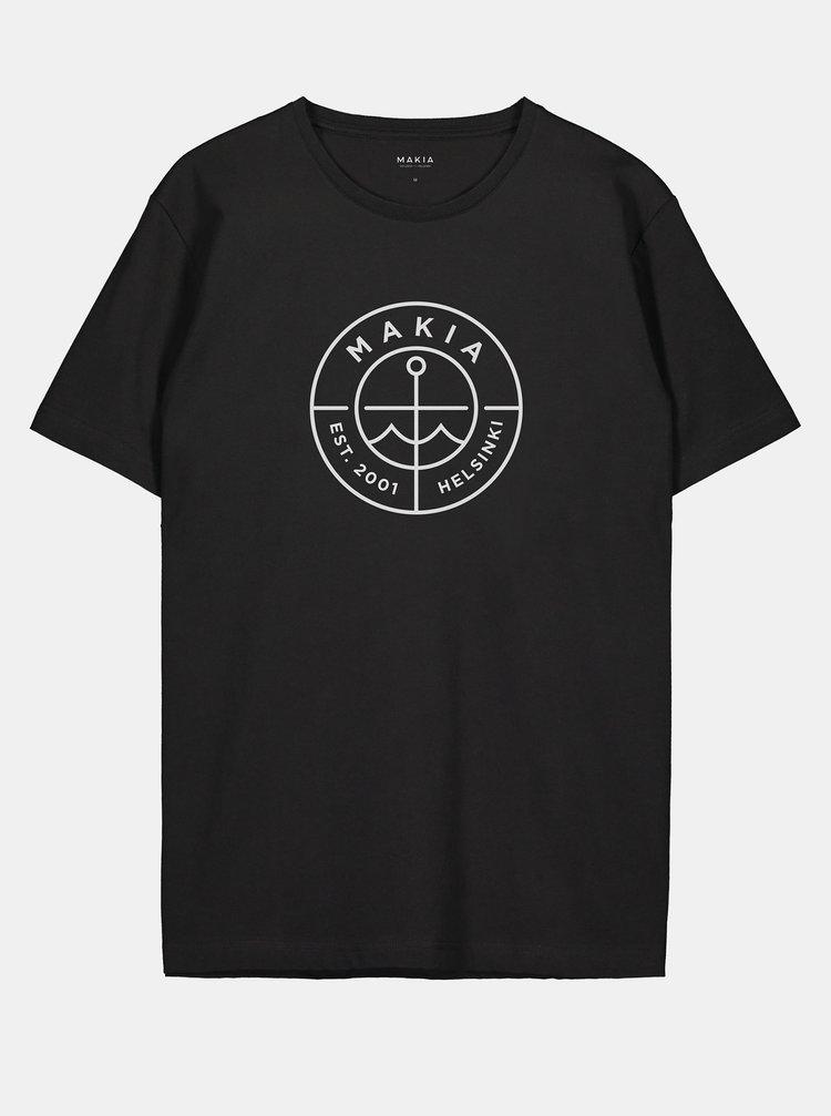 Černé pánské tričko s potiskem Makia Scope